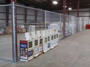 Commercial Chain Link Fence Enclosure.