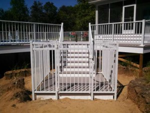 White Aluminum Railing in Holland, Michigan.