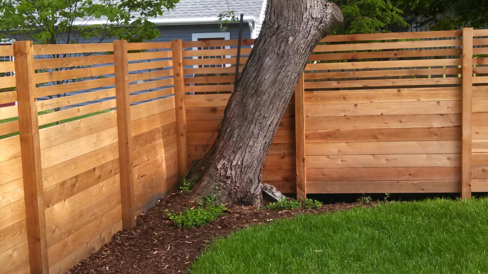 custom cedar wood fence privacy fence grand haven