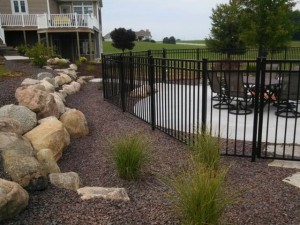 Aluminum Ornamental Pool Fence in Hamilton, Michigan.