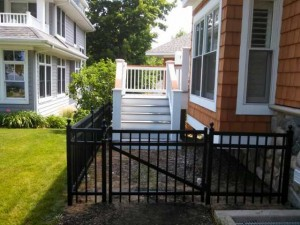 Black Aluminum Ornamental Fence in Holland, Michigan.