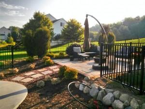 Black Aluminum Ornamental Pool Fence in Rockford, Michigan.