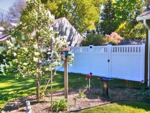 Polyvinyl Privacy Fence in Jenison, Michigan.