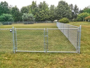 Residential Chain Link Fence in Grand Rapids, Michigan.