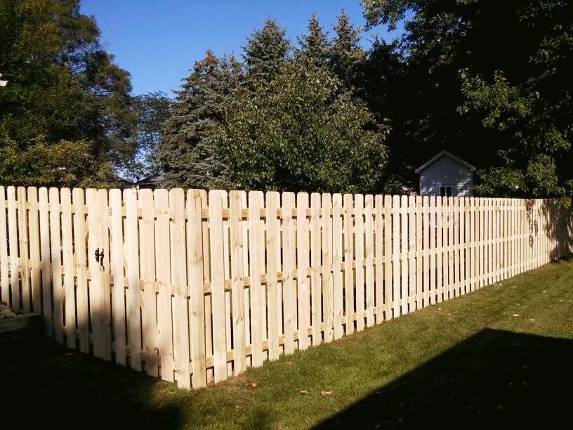 Hilly Yard No Problem Straight Line Fence