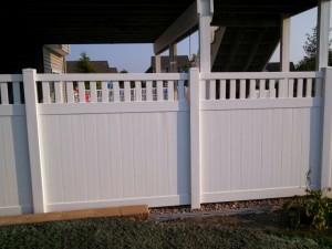 polyvinyl privacy fence