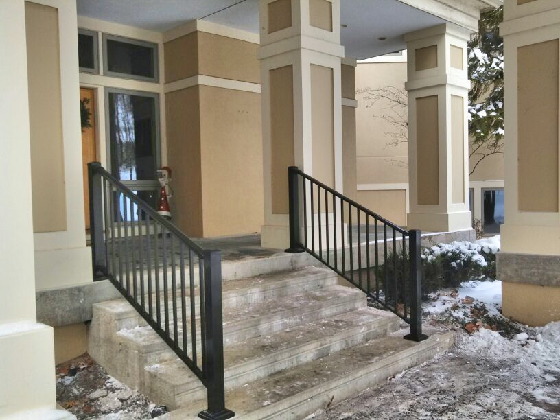 Exterior Handrails - Straight Line Fence