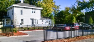 Black Aluminum Ornamental Fence, Commercial Grade, in Grand Rapids, Michigan.