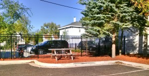 Black Aluminum Ornamental Fence, Commercial Grade, in Grand Rapids, Michigan.