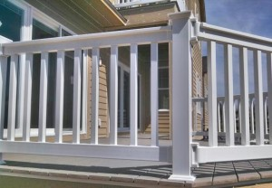 White Polyvinyl Railing in South Haven, Michigan.