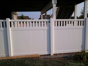 Privacy Fence with Spacing
