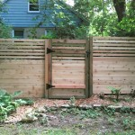 Custom Cedar Privacy Fence with Gate