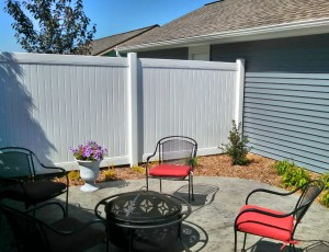 Polyvinyl Privacy Fence in Holland, Michigan.