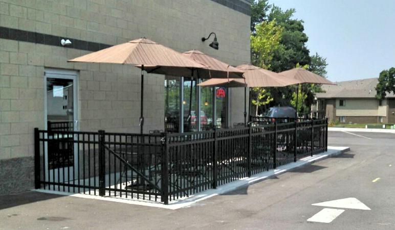 Commercial Black Aluminum Ornamental Fence in Holland, Michigan.