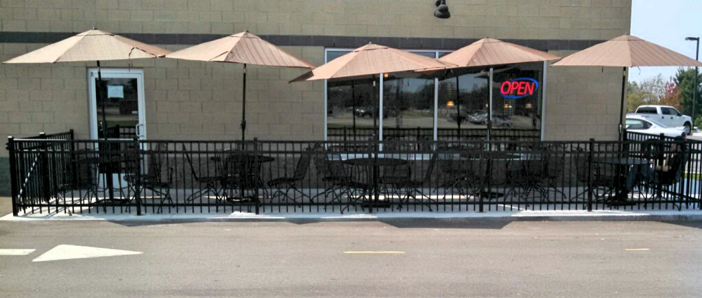 Commercial Black Aluminum Ornamental Fence in Holland, Michigan.