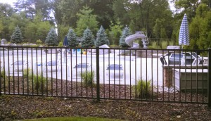 Bronze Aluminum Ornamental Pool Fence.