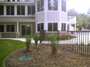 Bronze Aluminum Ornamental Pool Fence