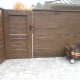 Custom Dark Horizontal Cedar Fence