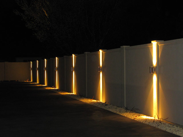 Frostfire Solar Wall Lights : Is It Possible To Light Up Your Fence? - Straight Line Fence